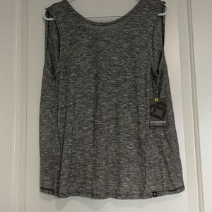 NWT Heather Gray Workout top w open back design